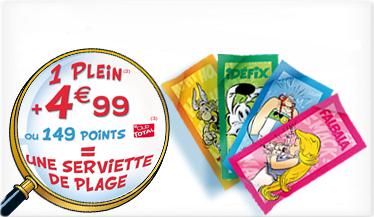 Astérix et compagnie - serviettes Total 2012