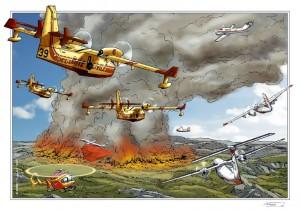 Pompiers du ciel - ex libris