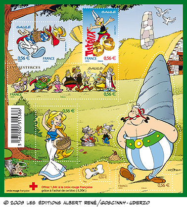 Timbres-Asterix-50-ans