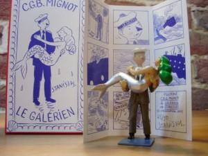 Figurine galérien et sirène